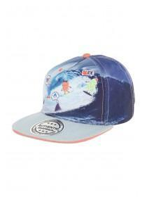 Younger Boys Blue Monster Surf Snapback Hat