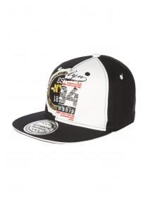 Older Boys Monochrome Spliced Snapback Hat