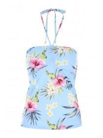 Womens Hawaiian Print Tankini Top