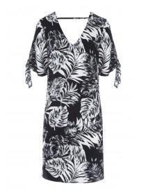 Womens Monochrome Palm Dress