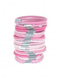 Girls 19pc Pink Hair Bobbles