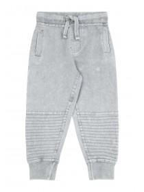 Younger Boys Grey Acid Wash Joggers