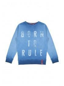 Older Boys Blue Oil Wash Sweater