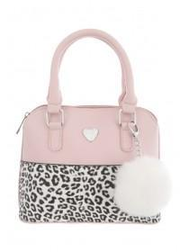 Older Girls Pink Pom Handbag