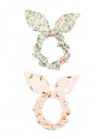 Girls 2pk Floral Scrunchie Bands