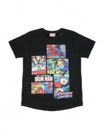 Younger Boys Black Marvel T-Shirt