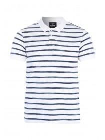 Mens Blue Stripe Polo Shirt