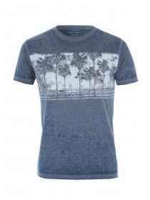 Mens Blue Pale Tree T-Shirt