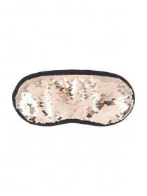 Womens Rose Gold Flip Sequin Eye Mask