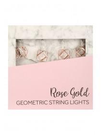 Womens Rose Gold Geometric String Lights