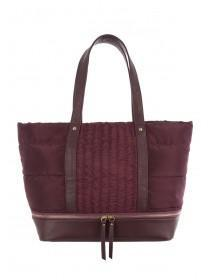 Womens Burgundy Padded Tote Bag
