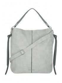 Womens Grey Suedette Bag