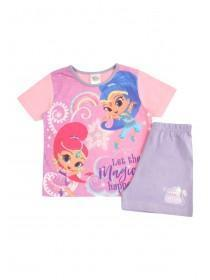 Younger Girls Pink Shimmer and Shine Pyjama Set