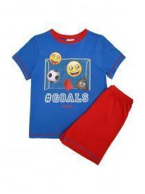 Older Boys Blue Emoji Pyjama Set