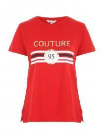 Womens Red Slogan T-Shirt