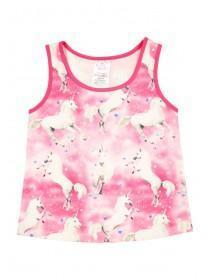 Younger Girls Pink Unicorn Vest