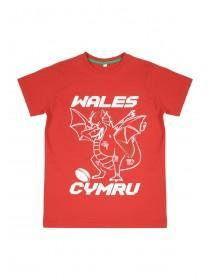 Older Boys Red Wales T-Shirt