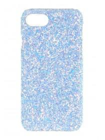 Womens Blue Glitter Phone Case