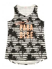 Older Girls Monochrome Palm Print Vest
