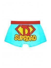 Mens Aqua Blue Superdad Boxers