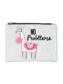 Womens Pink No Probllama Purse