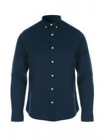 Mens Navy Long Sleeve Oxford Shirt