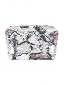 Womens Multicoloured Flip Sequin Cosmetic Bag