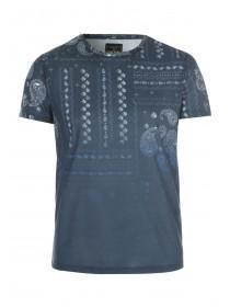 Mens Navy Printed T-Shirt