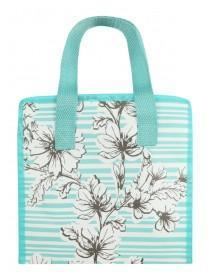 Womens Turquoise Floral Lunch Bag