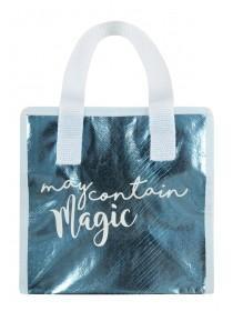 Womens Metallic Blue Lunch Bag