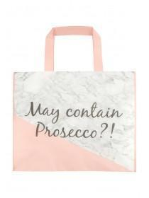 Womens Pink Marble Prosecco Shopper Bag