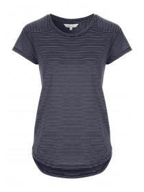 Womens Navy Striped T-Shirt
