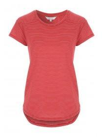 Womens Red Striped T-Shirt