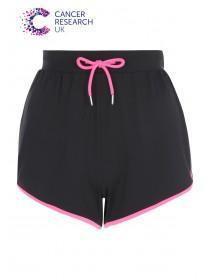 Womens Black Cancer Research UK Shorts