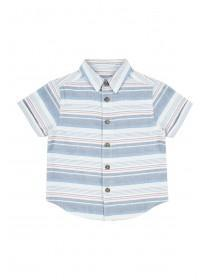Younger Boys Blue Striped Shirt