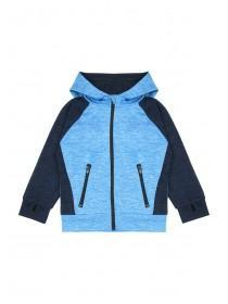 Younger Boys Blue Panel Hoody