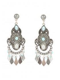 Womens Silver Droplet Earrings