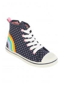 Younger Girls Rainbow Hightop Trainers