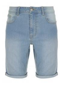 Mens Light Blue Denim Shorts