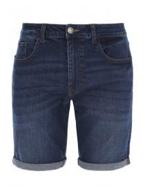 Mens Mid Blue Denim Shorts