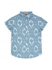 Older Boys Blue Abstract Short Sleeve Shirt