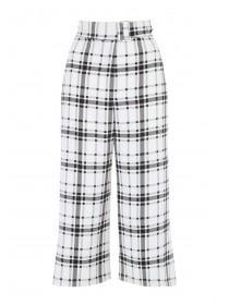 Womens Monochrome Check Culottes