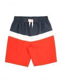 Older Boys Navy Stripe Swimshorts