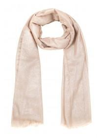 Womens Taupe Lurex Scarf