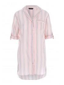 Womens Pink Stripe Boyfriend Nightshirt