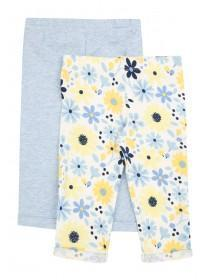 Baby Girls 2pk Floral Leggings
