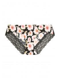 Womens Black Floral Lace Back Briefs