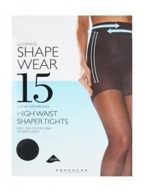 Womens Black 15 Denier Ultimate Shapewear Tights