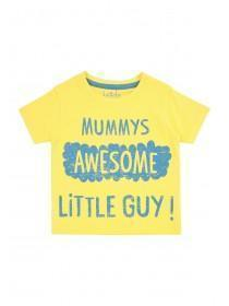 Baby Boys Yellow Slogan T-Shirt