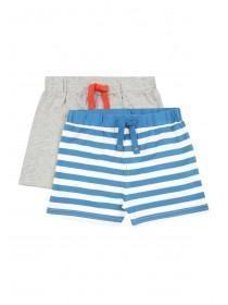 Baby Boys 2pk Stripe Shorts